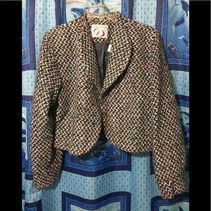 Doncaster Tweed Cropped Blazer Sz 10
